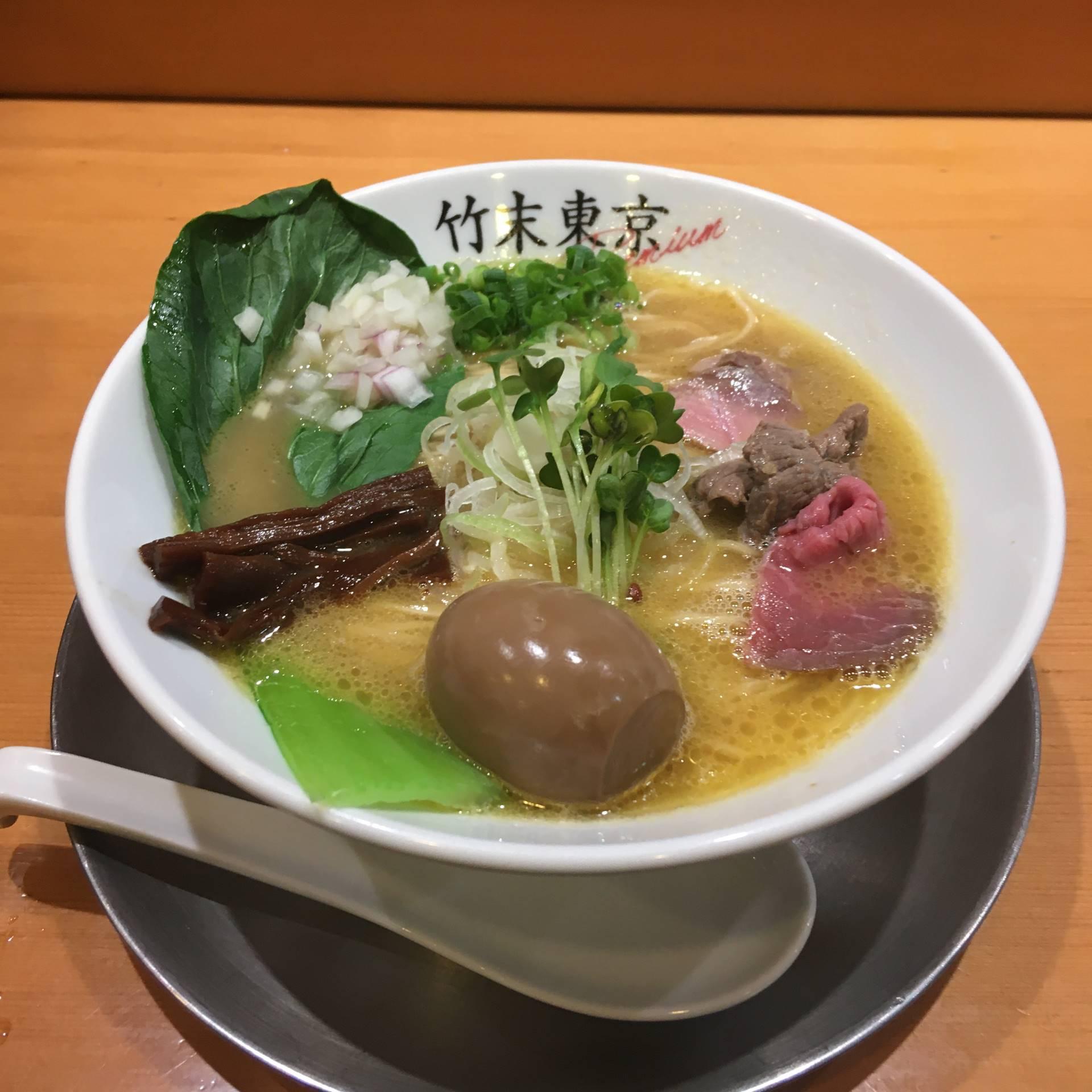 味玉鶏そば1050円 他 竹末東京Premium