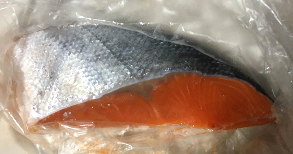 スーパーで購入した銀鮭