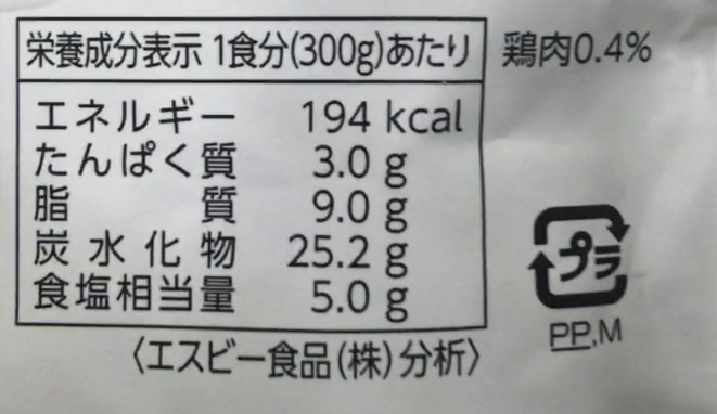 栄養成分表示|たっぷり 特盛 大辛カレー|ローソンストア