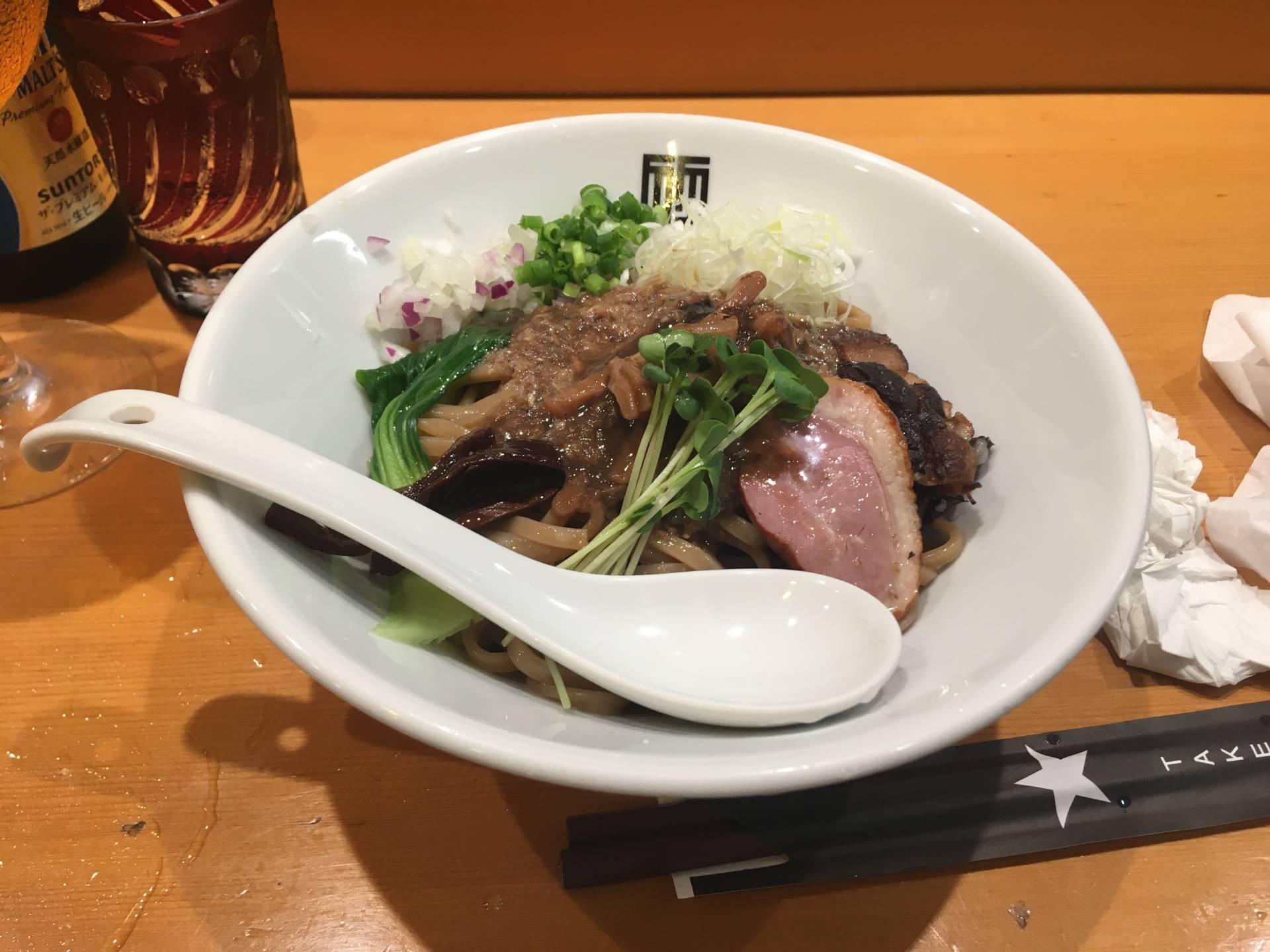 竹末東京Premiumの「サンマとイカのまぜそば」2020年7月版