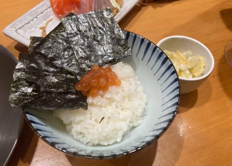限定ラーメン 鮭白湯についてくるご飯もの