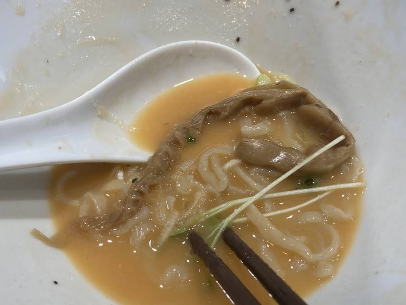 スープにメンマ