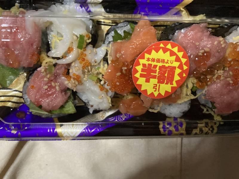 海鮮たっぷりのっけ盛寿司|スーパーで購入した物