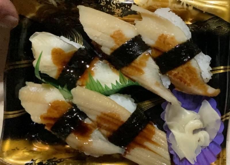 穴子握り寿司