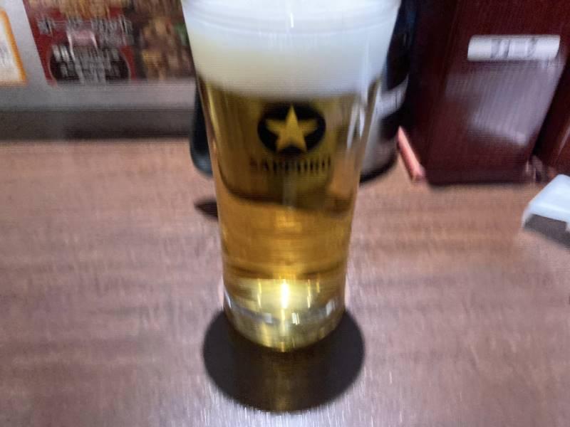 プラチナ会員特典で1杯無料のビール