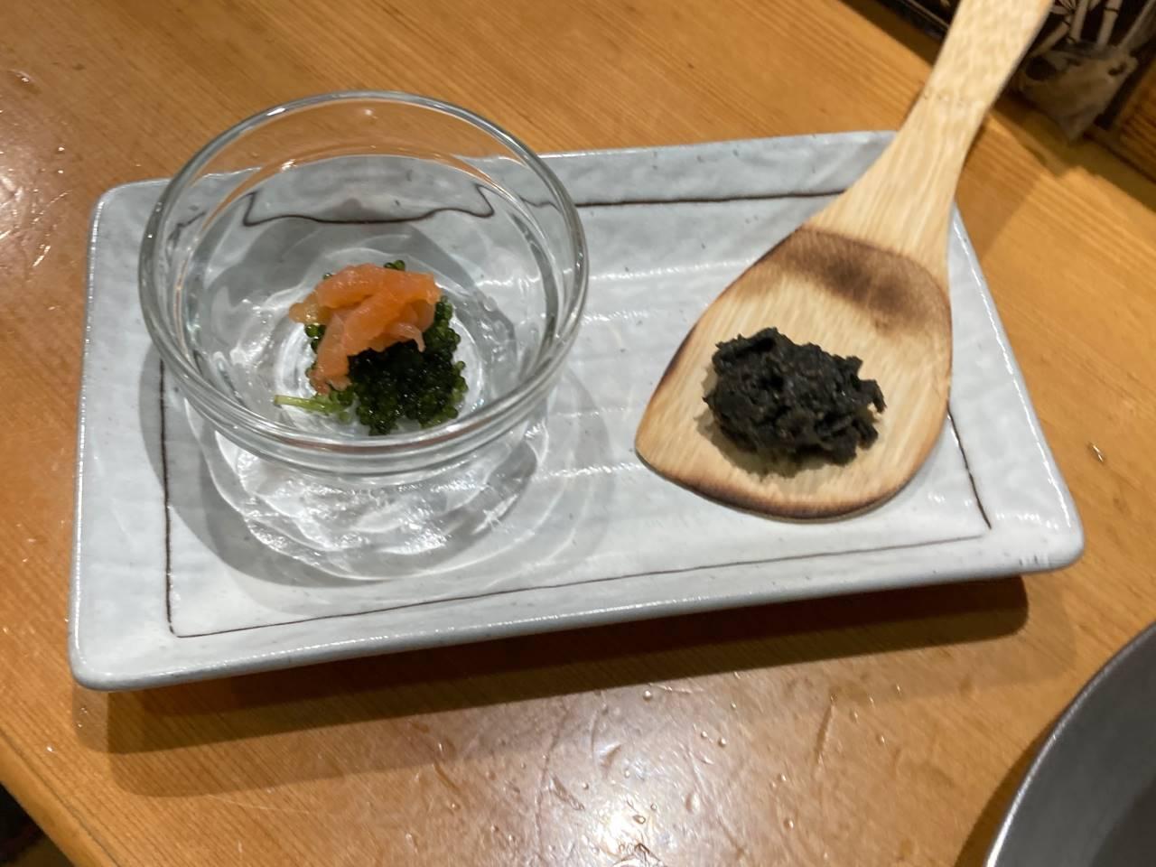 別皿の味噌と一品料理