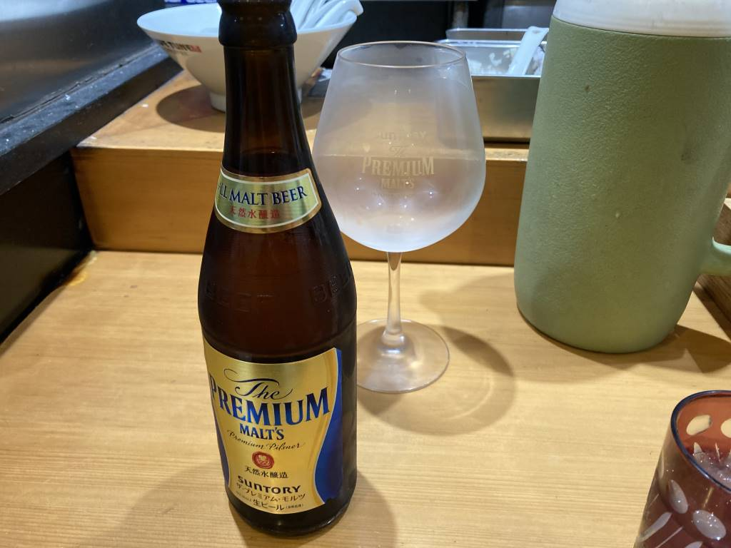 竹末東京プレミアムのビールはプレミアムモルツ