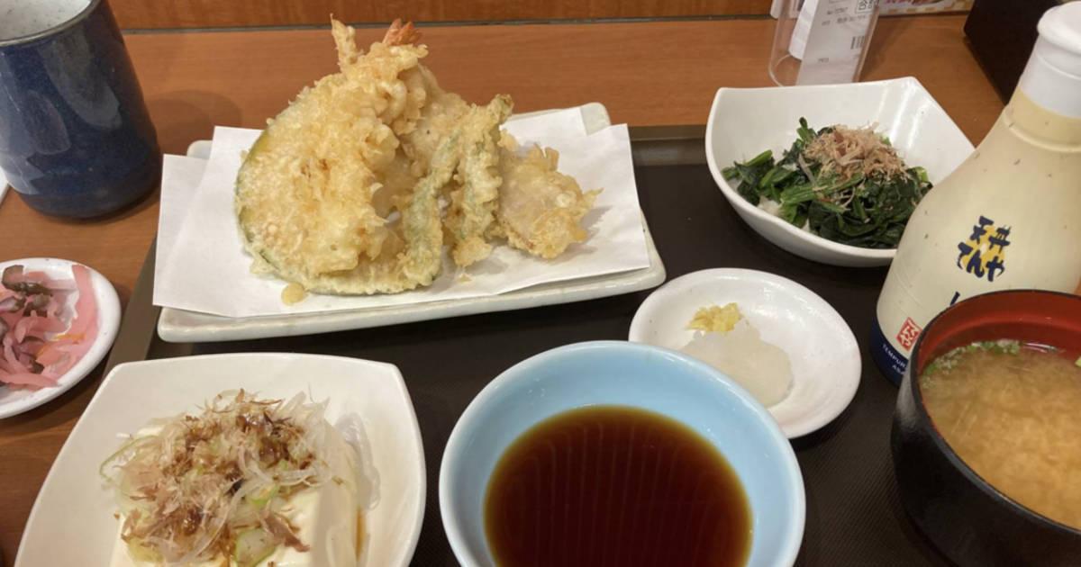 てんやで「天ぷら定食」690円