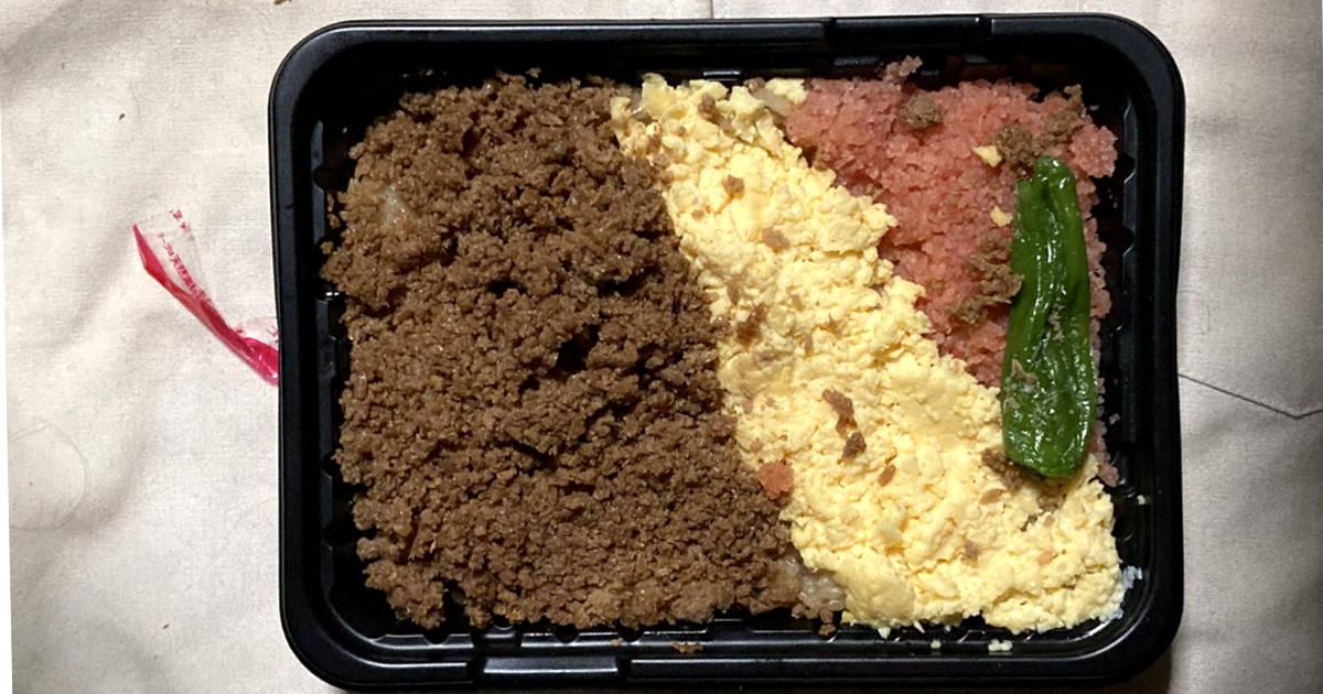 オーケーの鶏肉そぼろの三食丼