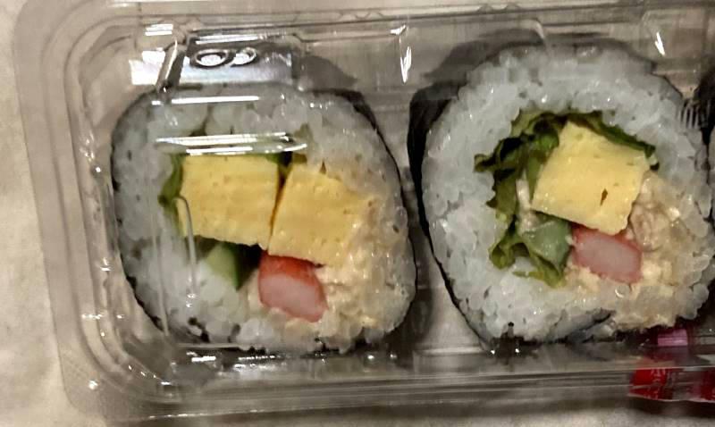 巻き寿司の状態