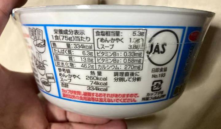 サッポロ一番 旅麺 横浜家系 豚骨しょうゆラーメンの栄養成分表示
