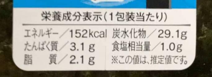 ツナマヨ(おにぎり)の栄養成分