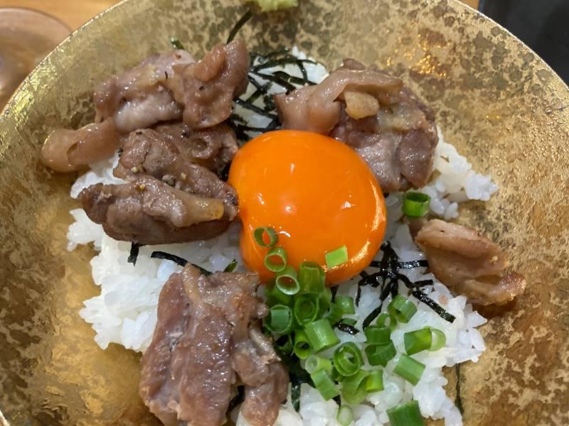 玉子とシャモ肉