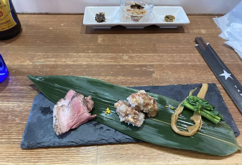 限定麺 春の名残り定食 竹末東京プレミアムの具材