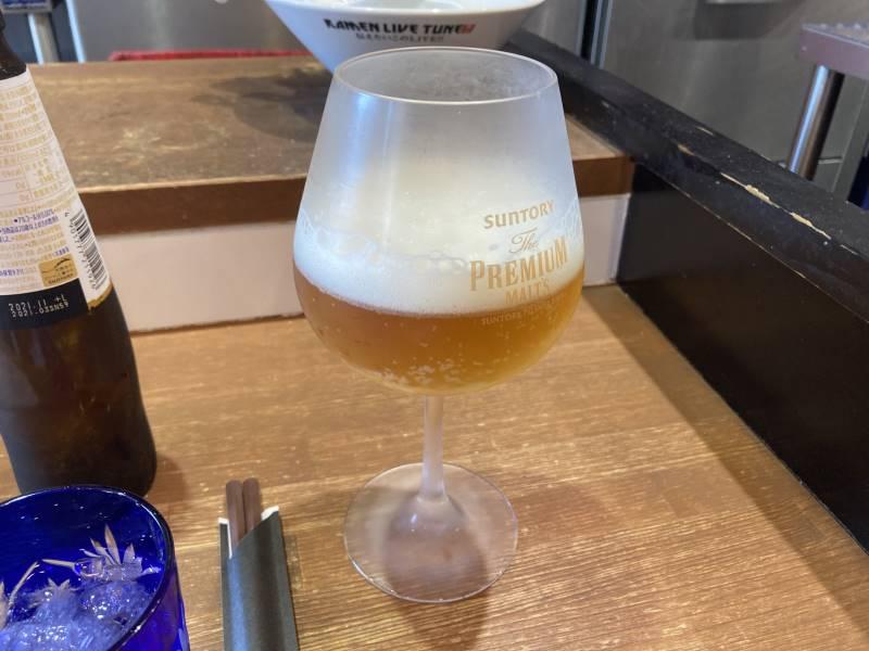 ノンアルコールビール注いだ状態
