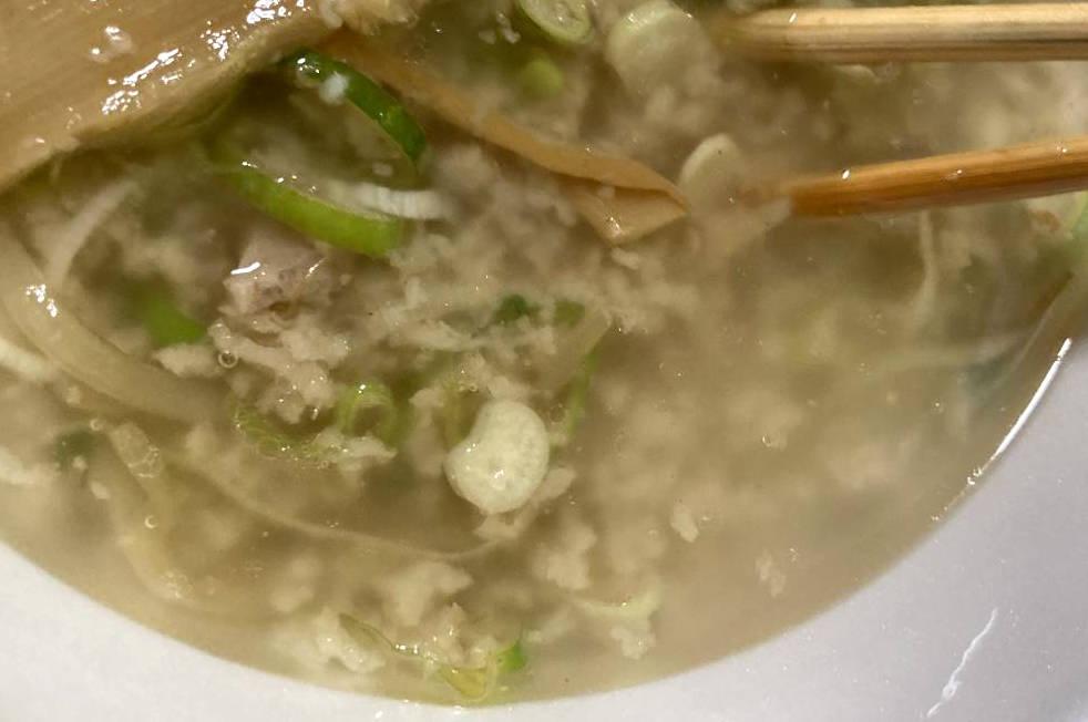 スープと背脂
